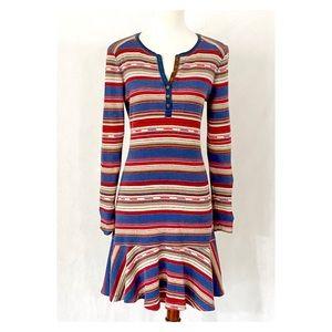 Lauren Jeans Company Pattern Thermal Henley Dress